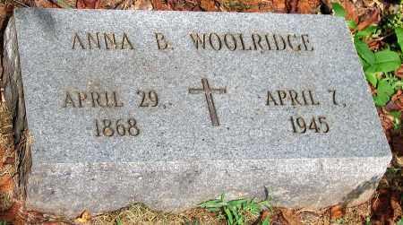 WOOLRIDGE, ANNA B. - Powhatan County, Virginia   ANNA B. WOOLRIDGE - Virginia Gravestone Photos