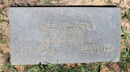 ADAMS, NED - Prince Edward County, Virginia | NED ADAMS - Virginia Gravestone Photos