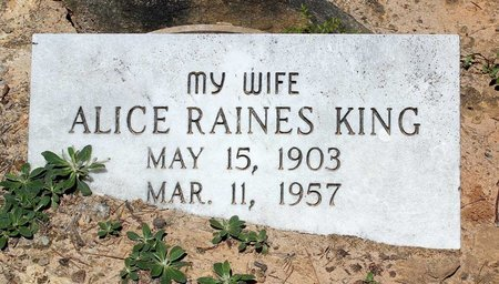 RAINES KING, ALICE - Prince Edward County, Virginia | ALICE RAINES KING - Virginia Gravestone Photos