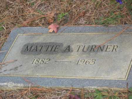 TURNER, MATTIE A - Prince George County, Virginia   MATTIE A TURNER - Virginia Gravestone Photos