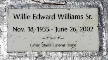 WILLIAMS, WILLIE EDWARD - Prince George County, Virginia | WILLIE EDWARD WILLIAMS - Virginia Gravestone Photos