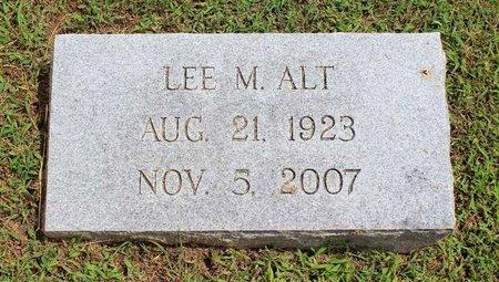 ALT, LEE M. - Pulaski County, Virginia | LEE M. ALT - Virginia Gravestone Photos