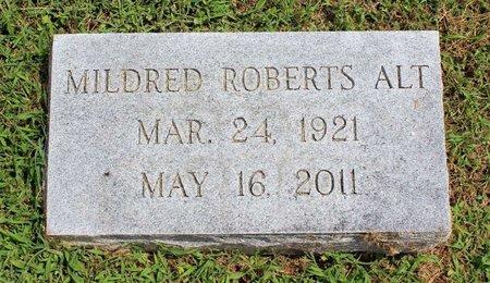 ROBERTS ALT, MILDRED - Pulaski County, Virginia   MILDRED ROBERTS ALT - Virginia Gravestone Photos
