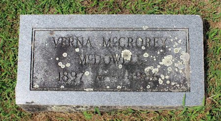 MCCROREY MCDOWELL, VERNA - Pulaski County, Virginia | VERNA MCCROREY MCDOWELL - Virginia Gravestone Photos