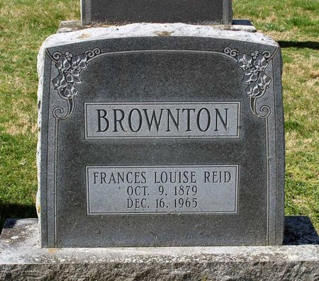 REID BROWNTON, FRANCES LOUISE - Rappahannock County, Virginia | FRANCES LOUISE REID BROWNTON - Virginia Gravestone Photos