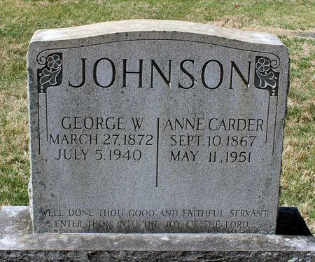 JOHNSON, ANNE - Rappahannock County, Virginia | ANNE JOHNSON - Virginia Gravestone Photos