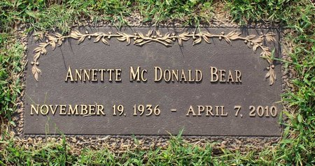 BEAR, ANNETTE - Roanoke County, Virginia | ANNETTE BEAR - Virginia Gravestone Photos