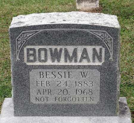 BOWMAN, BESSIE W. - Rockingham County, Virginia | BESSIE W. BOWMAN - Virginia Gravestone Photos