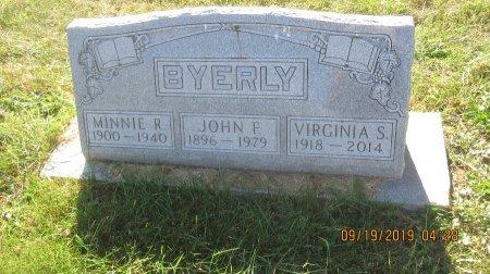 BYERLY, MINNIE ALMA - Rockingham County, Virginia | MINNIE ALMA BYERLY - Virginia Gravestone Photos