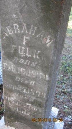 FULK, ABRAHAM F. - Rockingham County, Virginia   ABRAHAM F. FULK - Virginia Gravestone Photos