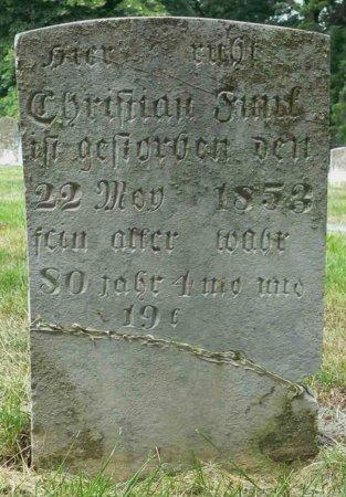 FUNK, CHRISTIAN - Rockingham County, Virginia | CHRISTIAN FUNK - Virginia Gravestone Photos