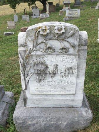 FUNK, MARY ALBERTA - Rockingham County, Virginia | MARY ALBERTA FUNK - Virginia Gravestone Photos