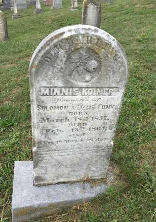 FUNK, MINNIE KOINER - Rockingham County, Virginia | MINNIE KOINER FUNK - Virginia Gravestone Photos