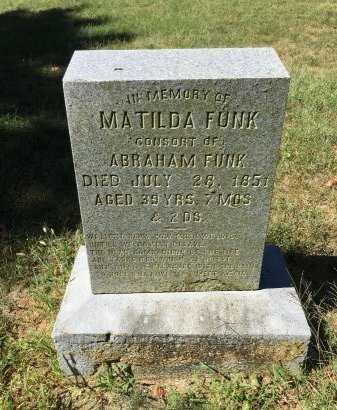 FUNK, MATILDA - Rockingham County, Virginia   MATILDA FUNK - Virginia Gravestone Photos