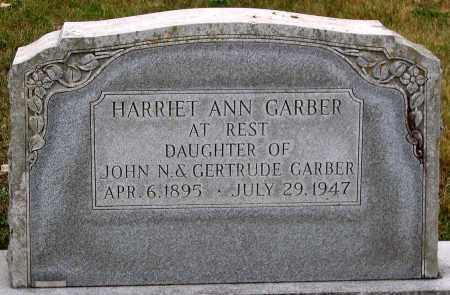GARBER, HARRIET ANN - Rockingham County, Virginia   HARRIET ANN GARBER - Virginia Gravestone Photos