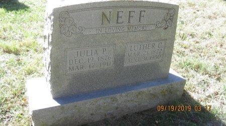 NEFF, JULIA P. - Rockingham County, Virginia | JULIA P. NEFF - Virginia Gravestone Photos