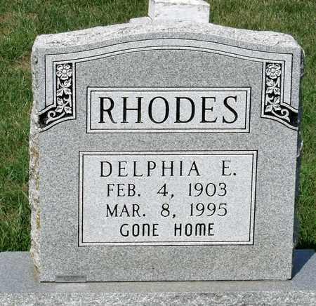 RHODES, DELPHIA E. - Rockingham County, Virginia   DELPHIA E. RHODES - Virginia Gravestone Photos
