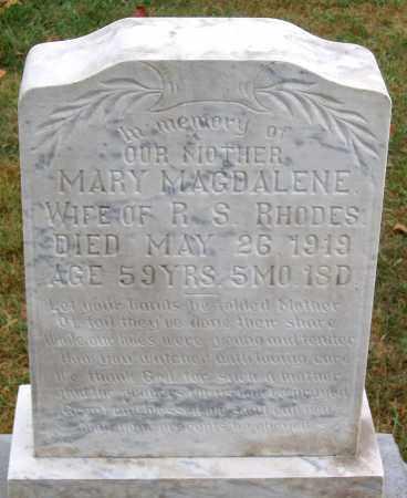 RHODES, MARY MAGDALENE - Rockingham County, Virginia | MARY MAGDALENE RHODES - Virginia Gravestone Photos