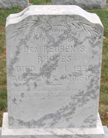 RHODES, REUBEN S. - Rockingham County, Virginia   REUBEN S. RHODES - Virginia Gravestone Photos