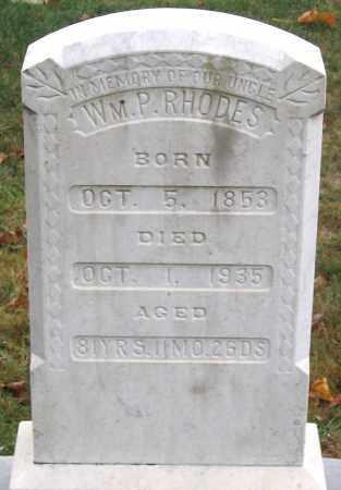 RHODES, WILLIAM P. - Rockingham County, Virginia   WILLIAM P. RHODES - Virginia Gravestone Photos