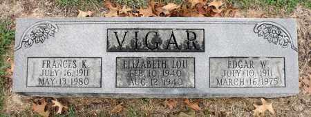 VIGAR, ELIZABETH LOU - Rockingham County, Virginia | ELIZABETH LOU VIGAR - Virginia Gravestone Photos