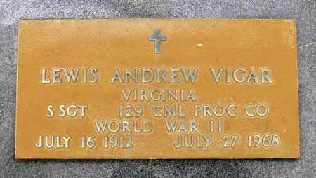 VIGAR, LEWIS ANDREW - Rockingham County, Virginia | LEWIS ANDREW VIGAR - Virginia Gravestone Photos
