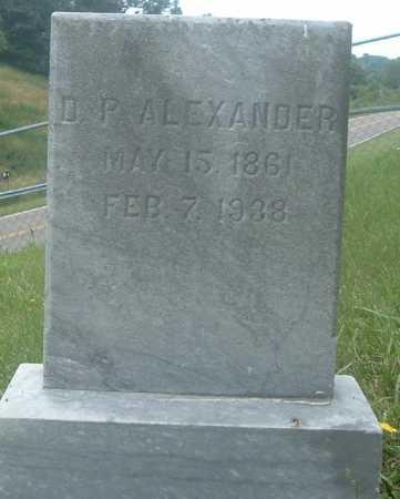 ALEXANDER, D P - Russell County, Virginia | D P ALEXANDER - Virginia Gravestone Photos