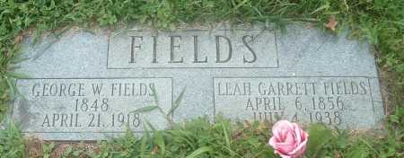FIELDS, LEAH GARRETT - Russell County, Virginia | LEAH GARRETT FIELDS - Virginia Gravestone Photos
