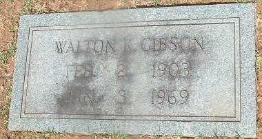 GIBSON, WALTON KEMPER - Russell County, Virginia | WALTON KEMPER GIBSON - Virginia Gravestone Photos