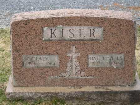 WELLS KISER, HATTIE - Russell County, Virginia | HATTIE WELLS KISER - Virginia Gravestone Photos
