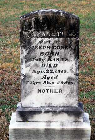 COMER, ELIZABETH - Shenandoah County, Virginia | ELIZABETH COMER - Virginia Gravestone Photos