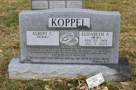 KOPPEL, ELIZABETH A. - Shenandoah County, Virginia   ELIZABETH A. KOPPEL - Virginia Gravestone Photos