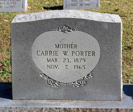 PORTER, CARRIE W. - Southampton County, Virginia | CARRIE W. PORTER - Virginia Gravestone Photos