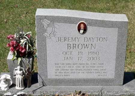 BROWN, JEREMY DAYTON - Spotsylvania County, Virginia | JEREMY DAYTON BROWN - Virginia Gravestone Photos