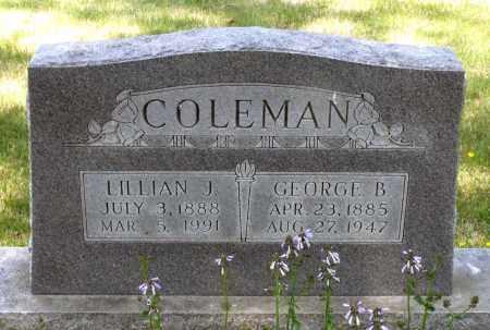 COLEMAN, LILLIAN J. - Spotsylvania County, Virginia | LILLIAN J. COLEMAN - Virginia Gravestone Photos
