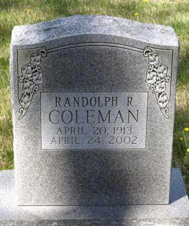 COLEMAN, RANDOLPH R. - Spotsylvania County, Virginia   RANDOLPH R. COLEMAN - Virginia Gravestone Photos