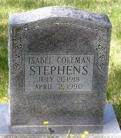 COLEMAN STEPHENS, ISABEL - Spotsylvania County, Virginia | ISABEL COLEMAN STEPHENS - Virginia Gravestone Photos
