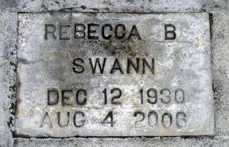 SWANN, REBECCA B. - Surry County, Virginia | REBECCA B. SWANN - Virginia Gravestone Photos