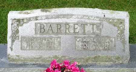 BARRETT, GEORGE SPRATLEY - Sussex County, Virginia | GEORGE SPRATLEY BARRETT - Virginia Gravestone Photos