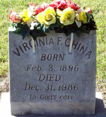 CHINA, VIRGINIA F. - Sussex County, Virginia | VIRGINIA F. CHINA - Virginia Gravestone Photos