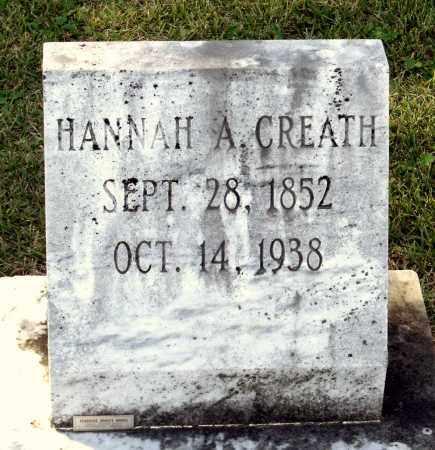 CREATH, HANNAH A. - Sussex County, Virginia | HANNAH A. CREATH - Virginia Gravestone Photos