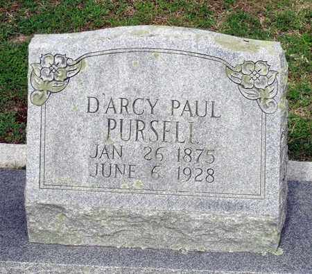 PURSELL, D'ARCY PAUL - Sussex County, Virginia | D'ARCY PAUL PURSELL - Virginia Gravestone Photos