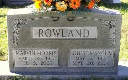MANGUM ROWLAND, LOUISE - Sussex County, Virginia | LOUISE MANGUM ROWLAND - Virginia Gravestone Photos
