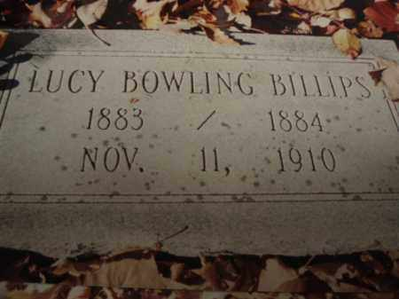 BOWLING BILLIPS, LUCY - Tazewell County, Virginia | LUCY BOWLING BILLIPS - Virginia Gravestone Photos