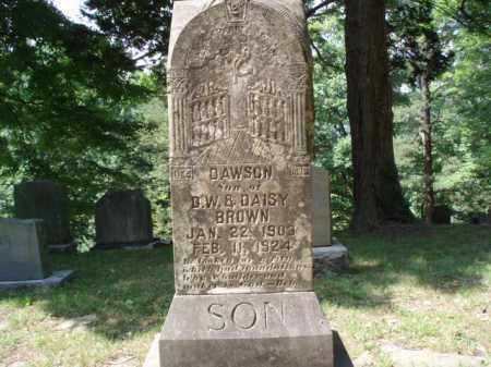 BROWN, DAWSON - Tazewell County, Virginia   DAWSON BROWN - Virginia Gravestone Photos