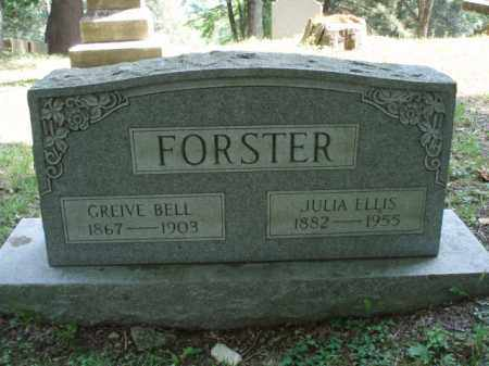 FORSTER, GREIVE BELL - Tazewell County, Virginia | GREIVE BELL FORSTER - Virginia Gravestone Photos