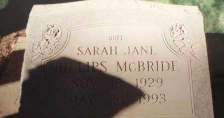 BILLIPS MCBRIDE, SARAH JANE - Tazewell County, Virginia | SARAH JANE BILLIPS MCBRIDE - Virginia Gravestone Photos