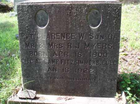 MYERS, CLARENCE - Tazewell County, Virginia | CLARENCE MYERS - Virginia Gravestone Photos