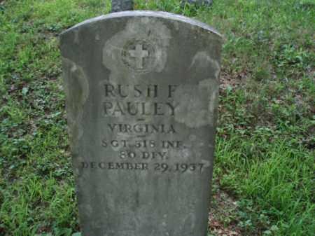 PAULEY, RUSH F - Tazewell County, Virginia | RUSH F PAULEY - Virginia Gravestone Photos
