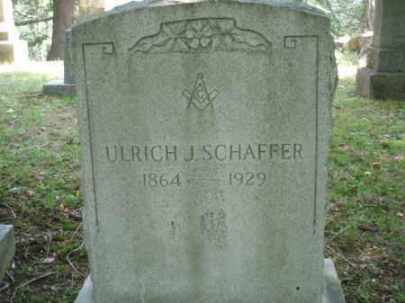 SCHAFFER, ULRICH J - Tazewell County, Virginia | ULRICH J SCHAFFER - Virginia Gravestone Photos